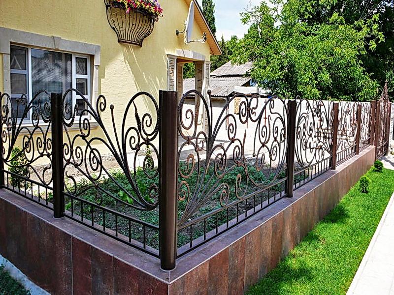 Кованая ограда и заборы N 5038