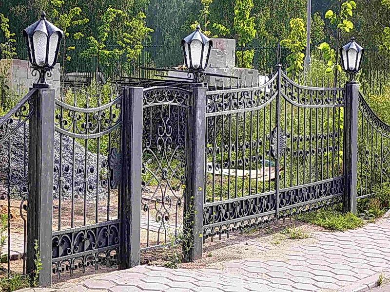 Кованая ограда и заборы N 5040