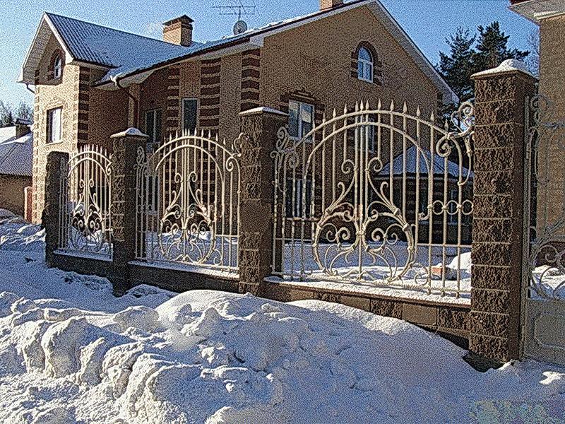 Кованая ограда и заборы N 5044