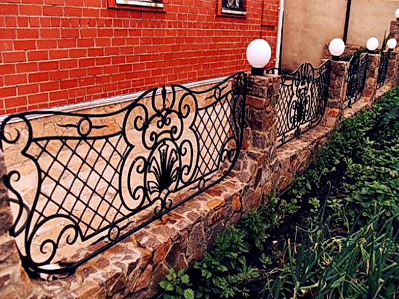 Кованая ограда и заборы N 5045