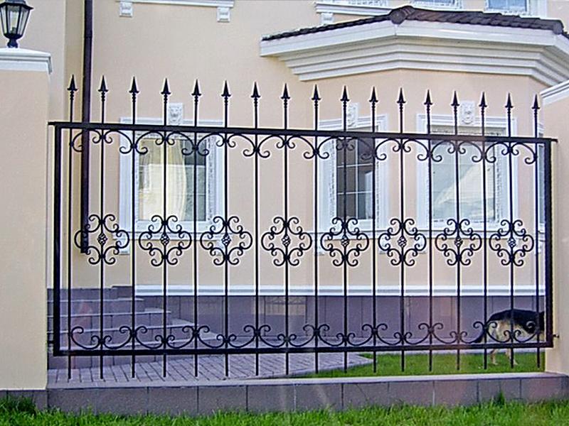 Кованая ограда и заборы N 5047