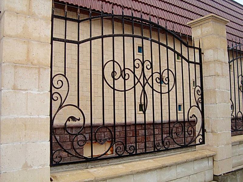 Кованая ограда и заборы N 5048