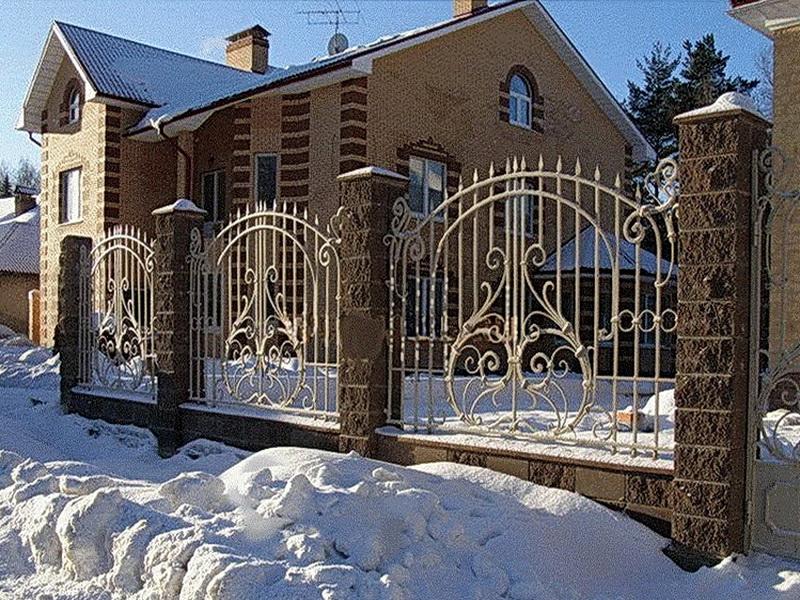 Кованая ограда и заборы N 5052