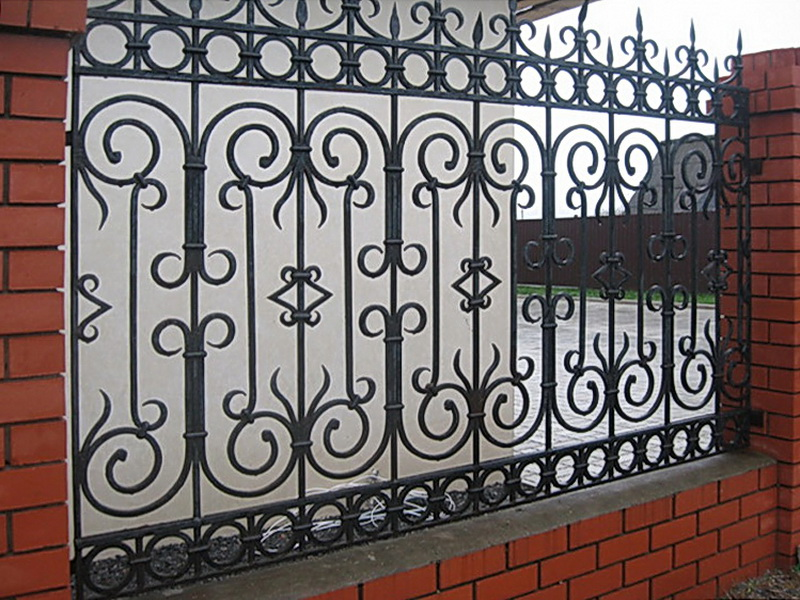 Кованая ограда и заборы N 5059