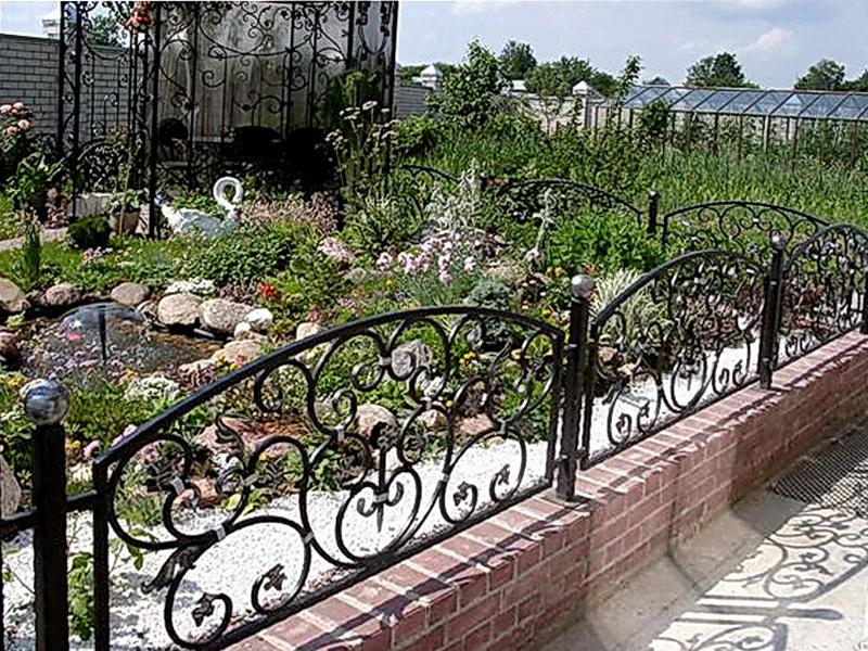 Кованая ограда и заборы N 5060