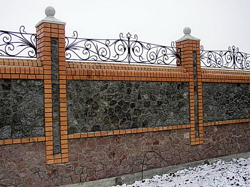 Кованая ограда и заборы N 5065