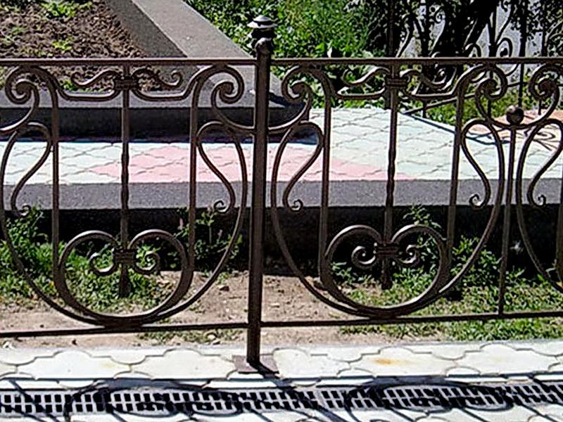 Кованая ограда и заборы N 5066