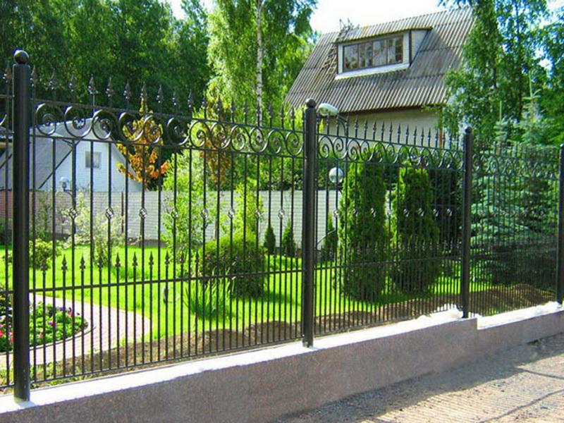 Кованая ограда и заборы N 5071