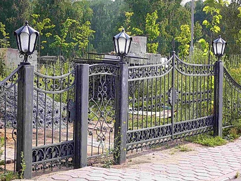 Кованая ограда и заборы N 5076