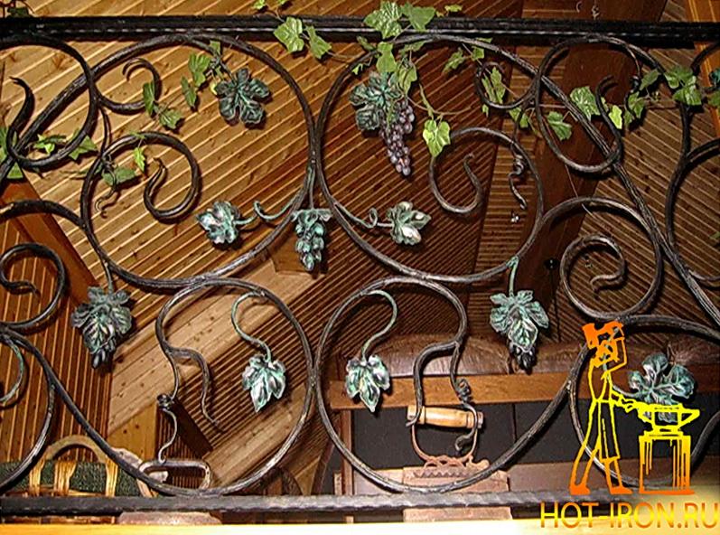 Кованые перила виноградная лоза N 3-3011