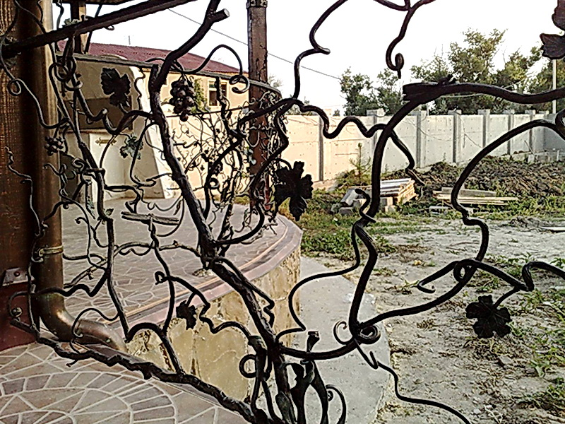 Кованые перила виноградная лоза N 3-3015