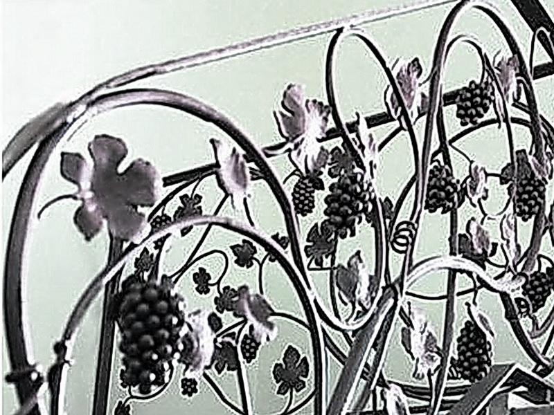 Кованые перила виноградная лоза N 3-3033