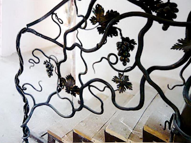 Кованые перила виноградная лоза N 3-3041