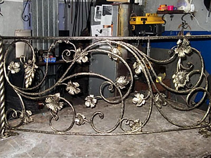 Кованые перила виноградная лоза N 3-3043