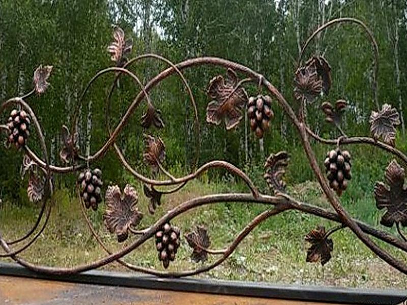 Кованые перила виноградная лоза N 3-3044