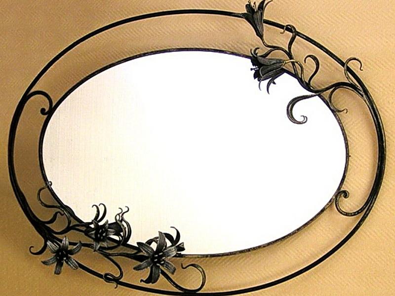 Кованое зеркало N 19003