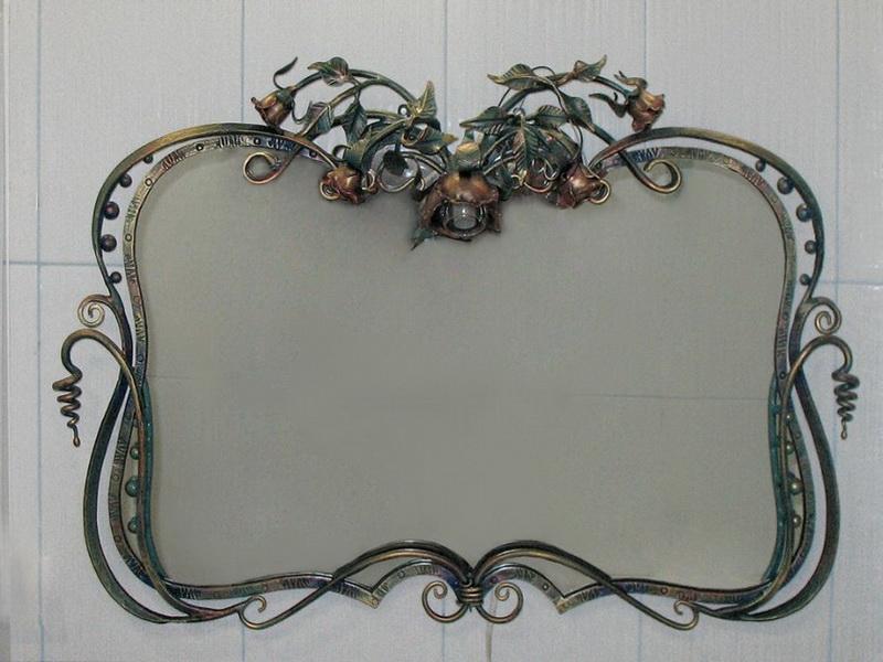 Кованое зеркало N 19027