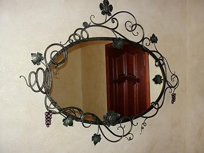 Кованое зеркало N 19054