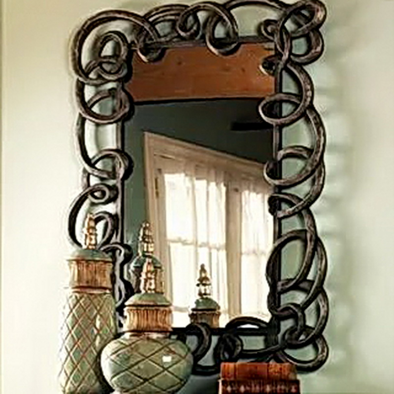 Кованое зеркало N 19063