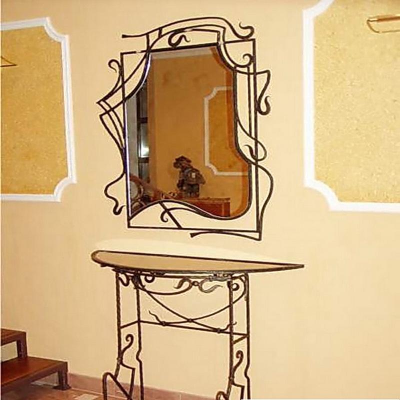 Кованое зеркало N 19064