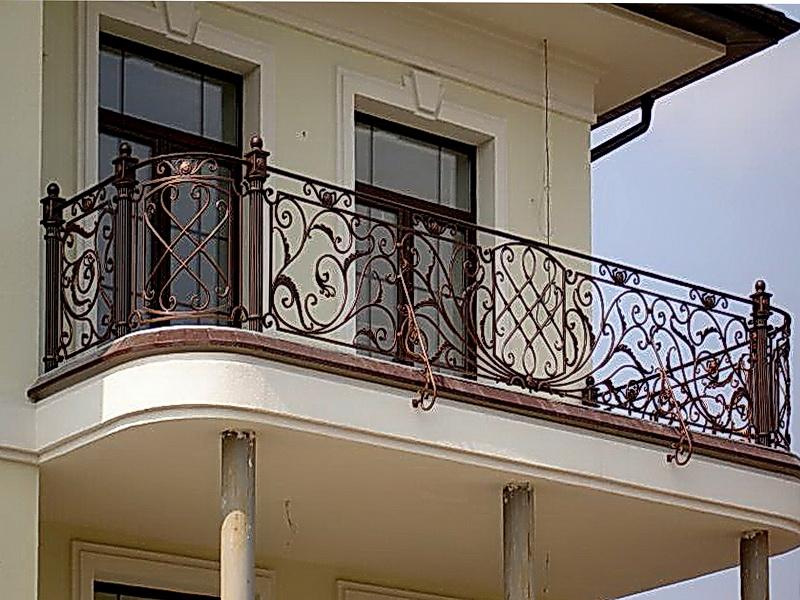 Кованые балконные ограждения N 4009
