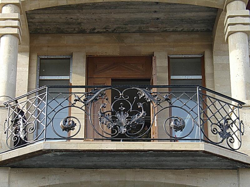 Кованые балконные ограждения N 4012