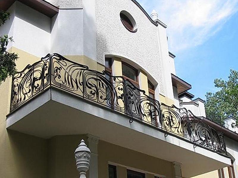 Кованые балконные ограждения N 4014