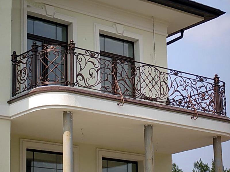 Кованые балконные ограждения N 4021