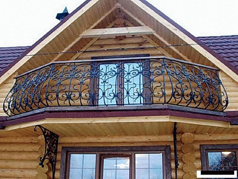 Кованые балконные ограждения N 4027