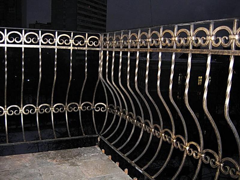 Кованые балконные ограждения N 4034