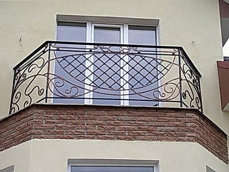 Кованые балконные ограждения N 4044