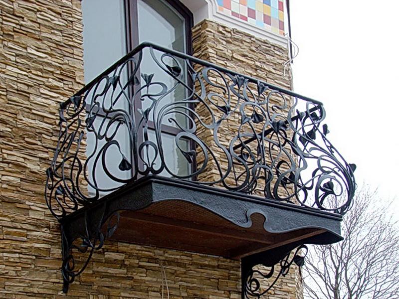Кованые балконные ограждения N 4064