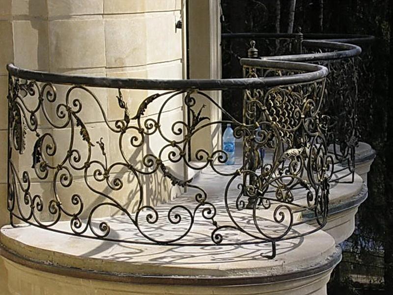 Кованые балконные ограждения N 4065