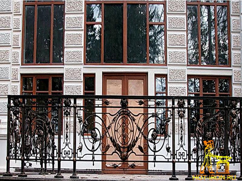 Кованые балконные ограждения N 4072