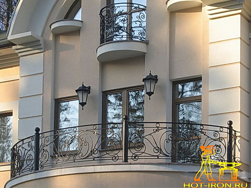 Кованые балконные ограждения N 4074