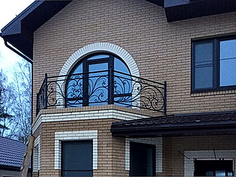 Кованые балконные ограждения N 4076