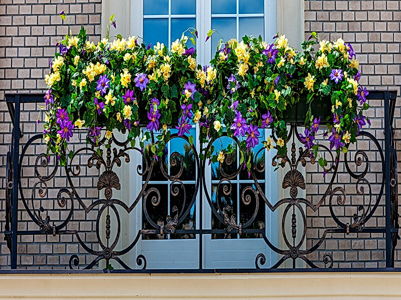 Кованые балконные ограждения N 4082