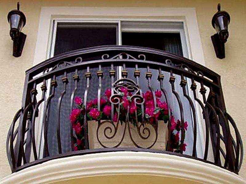 Кованые балконные ограждения N 4101