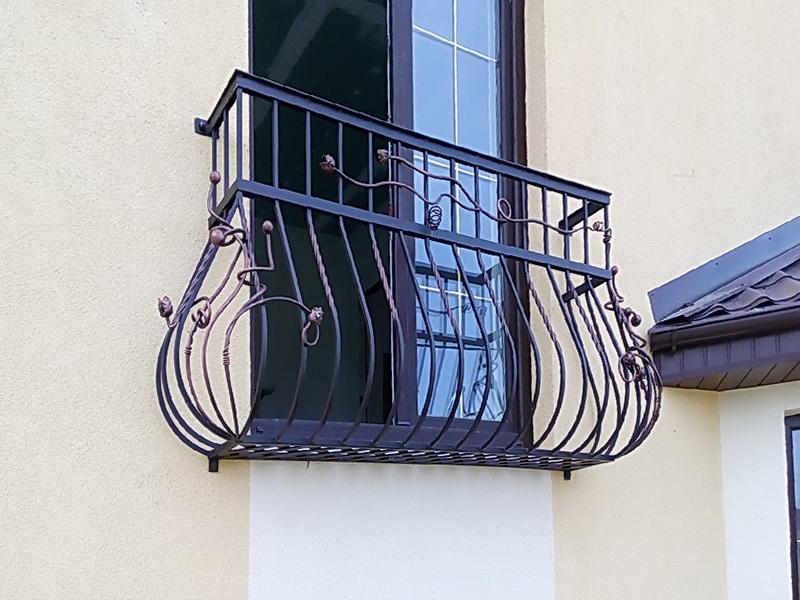 Кованые балконные ограждения N 4104