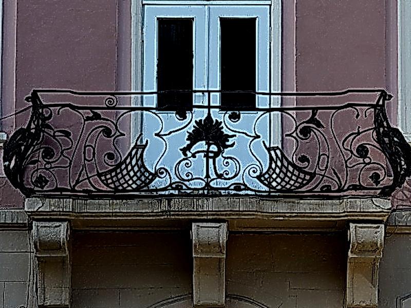 Кованые балконные ограждения N 4119