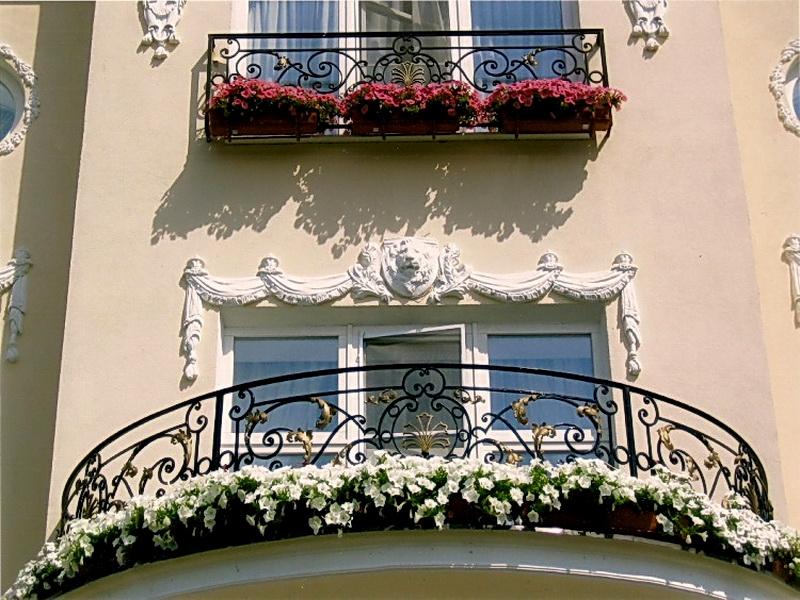 Кованые балконные ограждения N 4129