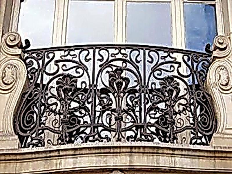 Кованые балконные ограждения N 4132
