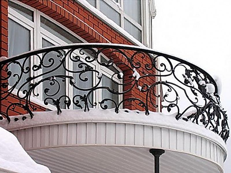 Кованые балконные ограждения N 4143