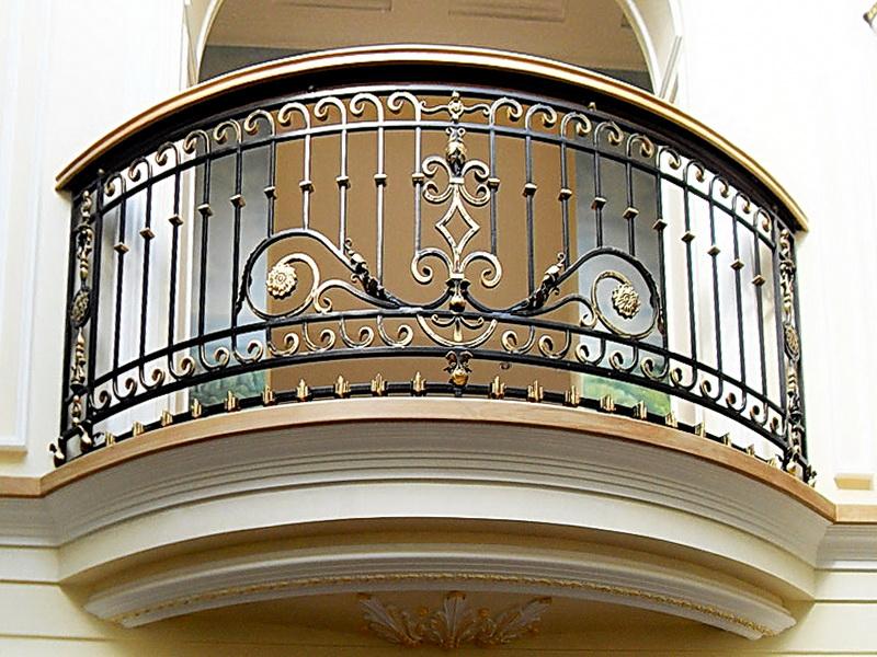 Кованые балконные ограждения N 4145