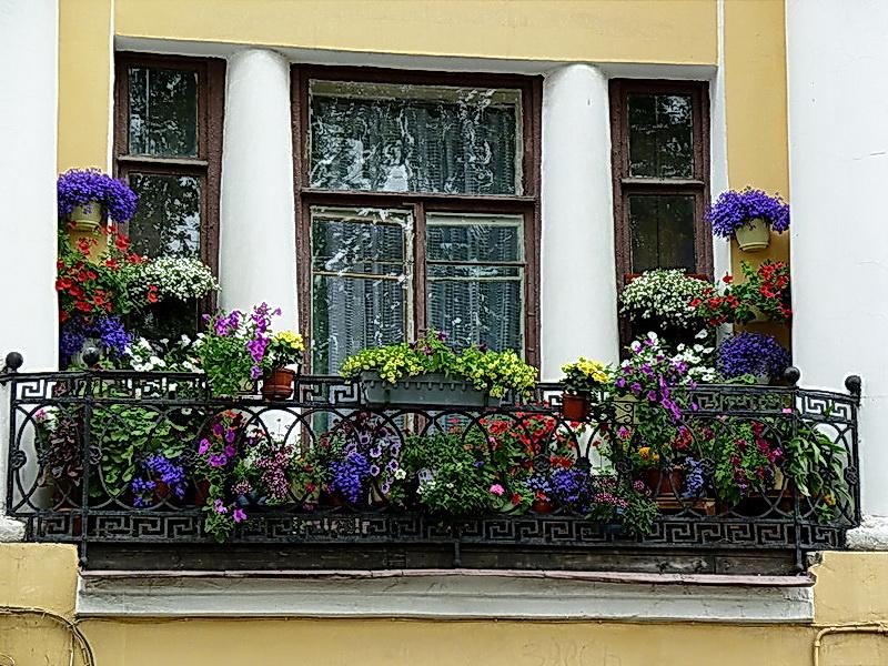 Кованые балконные ограждения N 4148