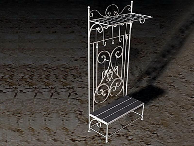 Кованые стеллажи - этажерки N 22009