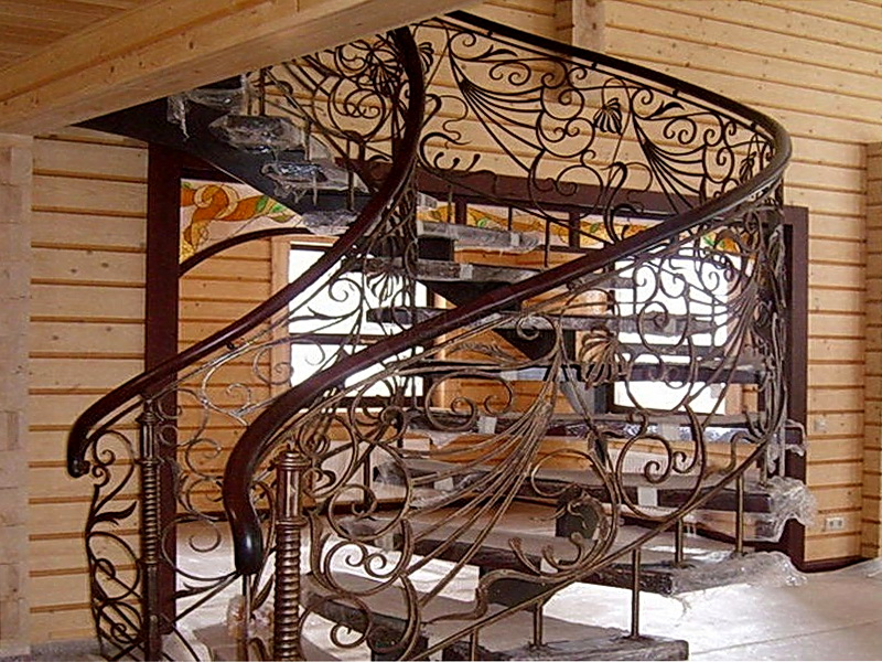 Кованые винтовые лестницы N 3-3548
