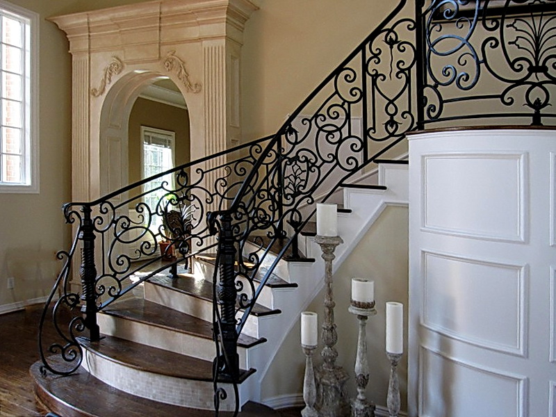 Кованые винтовые лестницы N 3-3550