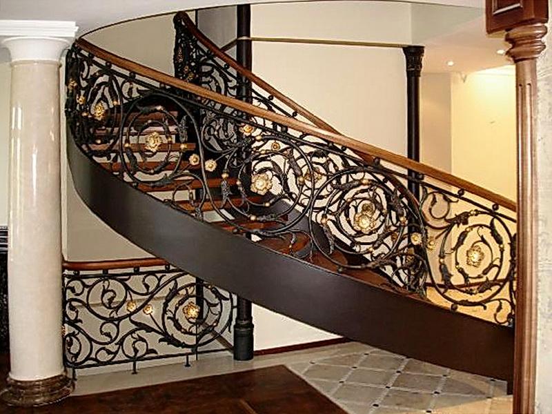 Кованые винтовые лестницы N 3-3558