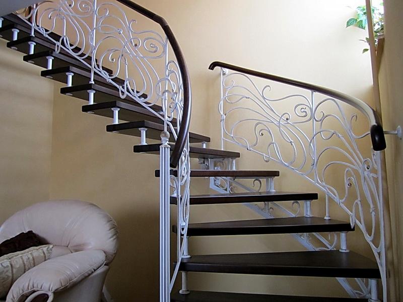 Кованые винтовые лестницы N 3-3562
